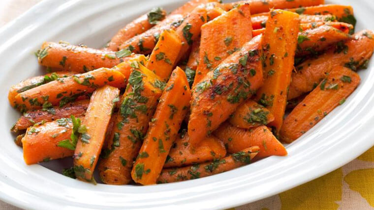 Roasted Carrots with caramel
